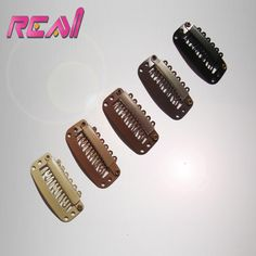 28 MM 6 Teeth Smaple Wigs Hair Extensions Metal Snap Clip, Stainless steel with Silicone