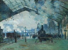 [Now on view in Gallery 201] Claude Monet. Arrival of the Normandy Train, Gare Saint-Lazare, 1877. Mr. and Mrs. Martin A. Ryerson Collection.