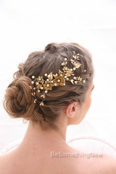 Bridal Decorative Comb Rustic Gold and Bronze by BeSomethingNew                                                                                                                                                                                 Mehr