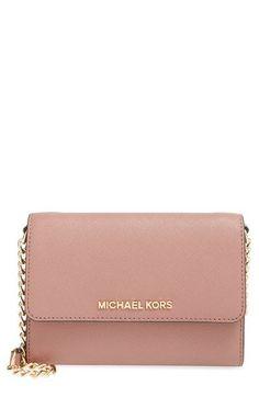 MICHAEL Michael Kors 'Jet Set - Large Phone' Saffiano Leather Crossbody Bag available at #Nordstrom Diese und weitere Taschen auf www.designertaschen-shops.de entdecken