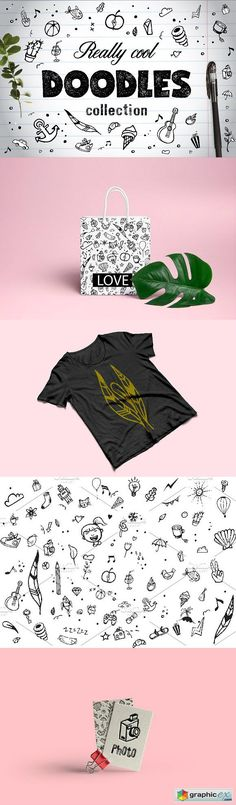 Really Cool Doodles  stock images