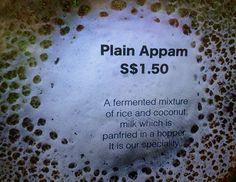 Appam. At Bala's.