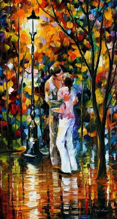 "Farewell Love — PALETTE KNIFE Figure Modern Impressionism Wall Art Oil Painting On Canvas By Leonid Afremov - Size 20"" x 36"" (50 cm x 90 cm)"