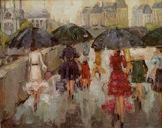 "Kathryn Trotter Art: ""Left Bank Ladies"" by Kathryn Morris Trotter"