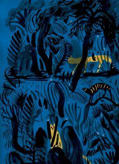 From Norwegian Children´s book D for Tiger, illustration by Mari Kanstad Johnsen.