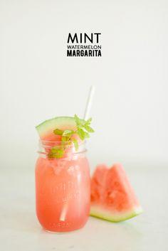 Mint Watermelon Margarita | Photography: Rustic White - www.rusticwhite.com/  Read More: http://www.stylemepretty.com/living/2014/07/18/mint-watermelon-margarita/