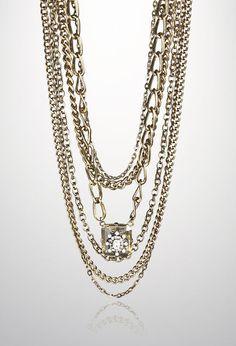 Multi Chain Pendant #Necklace #accessorieshttp://to.faearch.me/1MvodEB