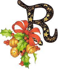 Alfabeto retro de Navidad.