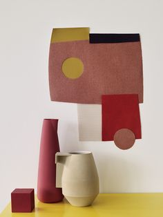 Textile moodboard by Sania Pell for Kvadrat