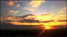 Sol e nuvens no horizonte...