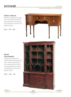 """Kittinger® Furniture Company- Dining ● Casegoods 