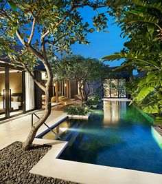 W Retreat & Spa Bali - Seminyak—Wow Two Bedroom Pool Villa at dusk | Flickr - Photo Sharing!