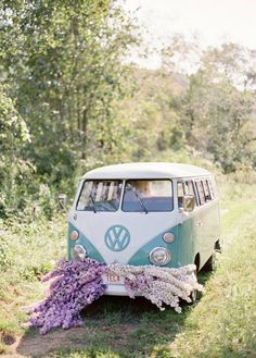 vw with a floral mustache;)