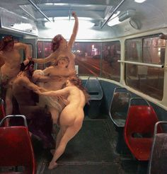 classical paintings in modern city by alexey kondakov
