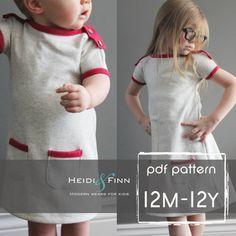 PlayDay robe PDF patron et tutoriel 12m12 coudre par heidiandfinn, $10.95