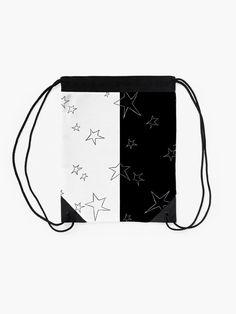 """Stars - Black and White"" Drawstring Bag by LAEC-Shop | Redbubble"