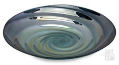 Moody Swirl Glass Tray Home Accessories at Art.com