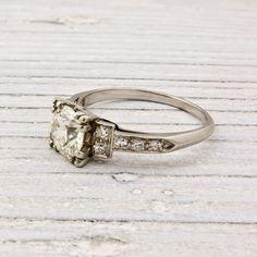 Image of .92 Old European Cut Art Deco Diamond Engagement Ring