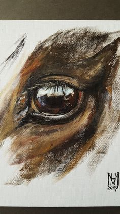 Horse Canvas Painting, Eye Painting, Acrylic Painting Animals, Painting Abstract, Abstract Landscape, Watercolor Horse, Watercolor Paintings, Pastel Paintings, Portrait Paintings