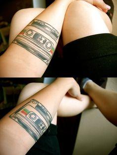 Tape cassette tattoo