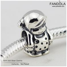 FL217 Authentic 925 Sterling Silver Charms Standing Little Girl Charm DIY Findings Fits Pandora Style Bracelets HOT Charms #Affiliate