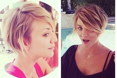 Looks Like Kaley Cuoco Caught Pixie Fever—Come See Her New Chop - Celebrity Hair - StyleBistro かわいい