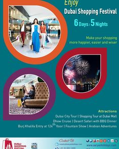 It's shopping time. It's time to have fun and begin New Year with New energy and resolutions. Dubai has all the fun ... Come and enjoy.