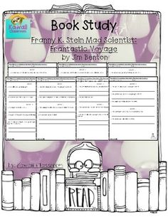 Book Study: Franny K. Stein Mad Scientist: Frantastic Voyage by Jim Benton. There are questions for at least 2 chapters on each page. I use these with my guided reading groups to give students an activity to do with their book.  I will be making more book studies for different levels because I have students working on a wide variety of levels. Please follow my store to stay updated on new products.