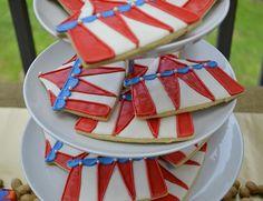 Circus Party Cookies #circus #cookies