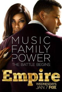 "Empire (Fox-January 7, 2015), a musical/drama TV series directed by Lee Daniels/Danny Strong. Stars: Terrence Howard,Taraji P. Henson, Gabourey Sidibe, Malik Yoba, Trai Byers, Bryshere Gray, Jussie Smollett, and others. A CEO of Empire Entertainment receives a medical diagnosis that will leave him incapacitated in 3 years, he must decide which of his three sons will take over his Empire. The ""sharks"" in the music business circle in trying to take over his business. Music featured by…"