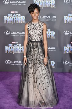 Letitia Wright in Bibhu Mohapatra at the world premiere of Black Panther #2018 #Premiere