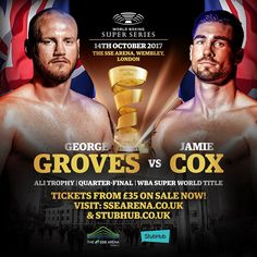 "This Saturday, the World Boxing Super Series Super Middleweight (168 lb.) tournament marches on. Callum Smith and Chris Eubank, Jr. are in the semi-finals. This match-up determines Chris Eubank's Jr opponent when George Groves (26-3, 19 KO) faces Jamie Cox (23-0, 13 KO). The fight is for Groves's WBA Super World Super Middleweight Title"". Groves vs. Cox takes place this Saturday, October 14 in London."