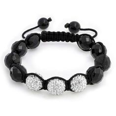Bling Jewelry Bling Jewelry Shamballa Inspired Bracelet Disco Ball... ($24) ❤ liked on Polyvore featuring jewelry, bracelets, black, woven bead bracelet, disco jewelry, beaded jewelry, sparkle jewelry and unisex jewelry