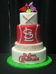 saint louis cardinal wedding cake i am in love