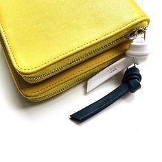 SAGAN Vienna zip around wallet in yellow with signature puller. Vienna, Card Case, Zip Around Wallet, Wallets, Yellow, Instagram Posts