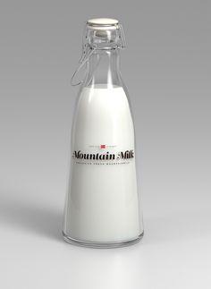 Des bouteilles de lait bien habillées