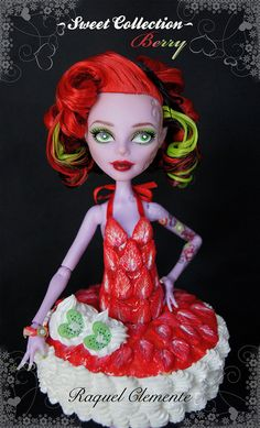 ♥BERRY♥ OOAK custom repaint Monster High doll Operetta Mattel by RaquelClemente by Deliciously forbidden, via Flickr
