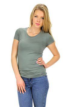 Majestic filatures - T-Shirts - Abbigliamento - T-Shirt in viscosa elasticizzata con girocollo e manica corta.La nostra modella indossa la taglia /EU S. - 631 - € 75.00