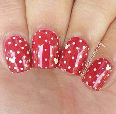 Minnie mouse nails nails minnie mouse nails, mickey mouse na Mickey Mouse Nail Art, Minnie Mouse Nails, Holiday Nails, Christmas Nails, Red Nails, Hair And Nails, Cath Kidston Nails, Video Pink, Disney Nails