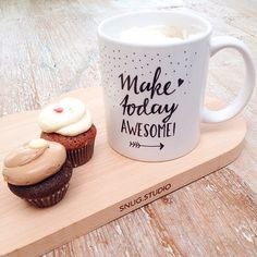 Make today awesome! #lettering #mug #paperfuel