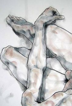 phillip dvorak - One of my figure drawings - charcoal and pastel on paper.