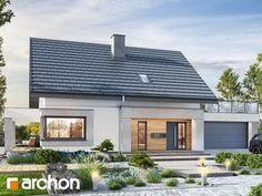 Projekt domu Dom w zdrojówkach - ARCHON+ Modern Small House Design, Cottage Homes, Pergola, Garage Doors, Exterior, Windows, Outdoor Decor, Home Decor, House 2