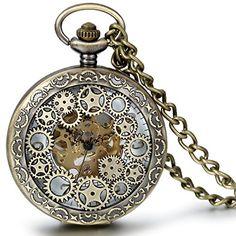JewelryWe Classic Antique Half Hunter Metal Hollow Gear Wheel Skeleton Hand Wind Mechanical Pocket Watch with Chain Jewelrywe http://www.amazon.com/dp/B01530WFNG/ref=cm_sw_r_pi_dp_tndSwb1SQYHJW