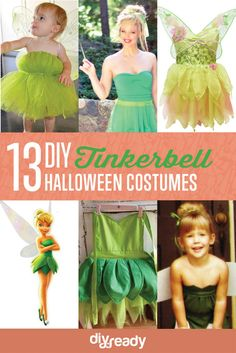 13 diy tinkerbell halloween costumes, see more at http://diyready.com/diy-tinkerbell-costume-ideas See last one