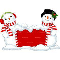 CLIPART CHRISTMAS SNOWMAN FRAME