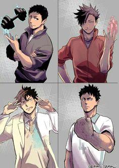 daichi & kuroo & oikawa & iwaizumi | haikyuu!!