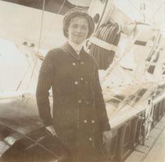 Grand Duchess Olga Nikolaevna a bordo do Imperial Yacht Standart em 1912.