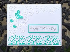 Handmade Mother's day card Embossed Mother's day card by Lufianti