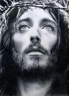 Jesus ...sketch drawing inspired from  Franco Zeffirelli's movie Jesus of Nazareth - actor Robert Powell.