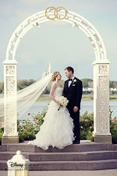 "There's a reason we call this beautiful place ""Picture Point"" at Disney's Wedding Pavilion"
